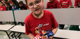 Second-grader Grabs the Checkered Flag