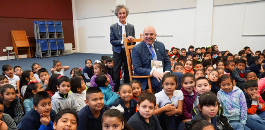 "Hubbard Heights ES Students Hear Superintendent Read ""Peter and the Wolf"""