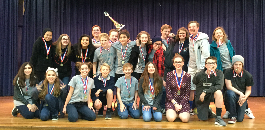 Middle Schools Compete at Zone and District for  One Act Play Honors