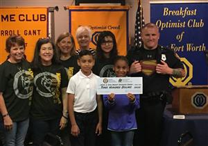 Meadowbrook E.S. Junior Optimist Club Students Make Donation to Combat Childhood Cancer
