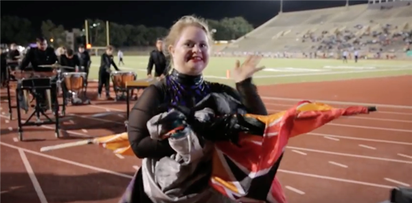 Paschal HS Band, Color Guard Celebrates One of Their Own