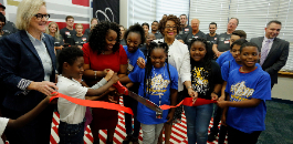 Metroplex Cadillac Dealers Cut Ribbon on Technology Lab at C.C. Moss ES