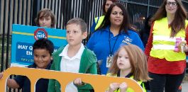 Leaders and Students Hop Aboard the Walking School Bus