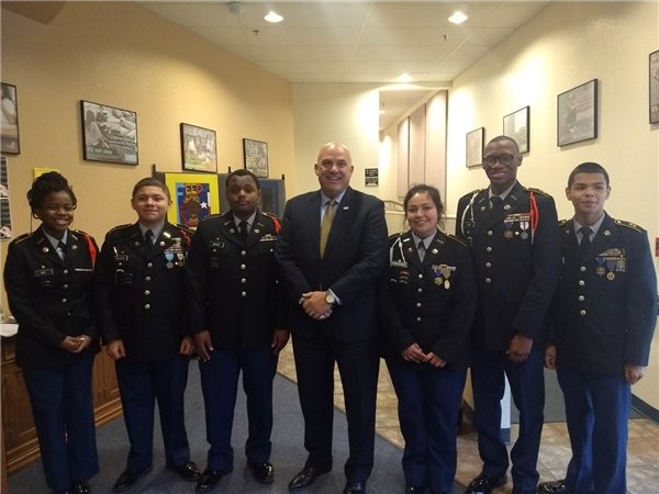 Poly JROTC at Superintendent's Meeting