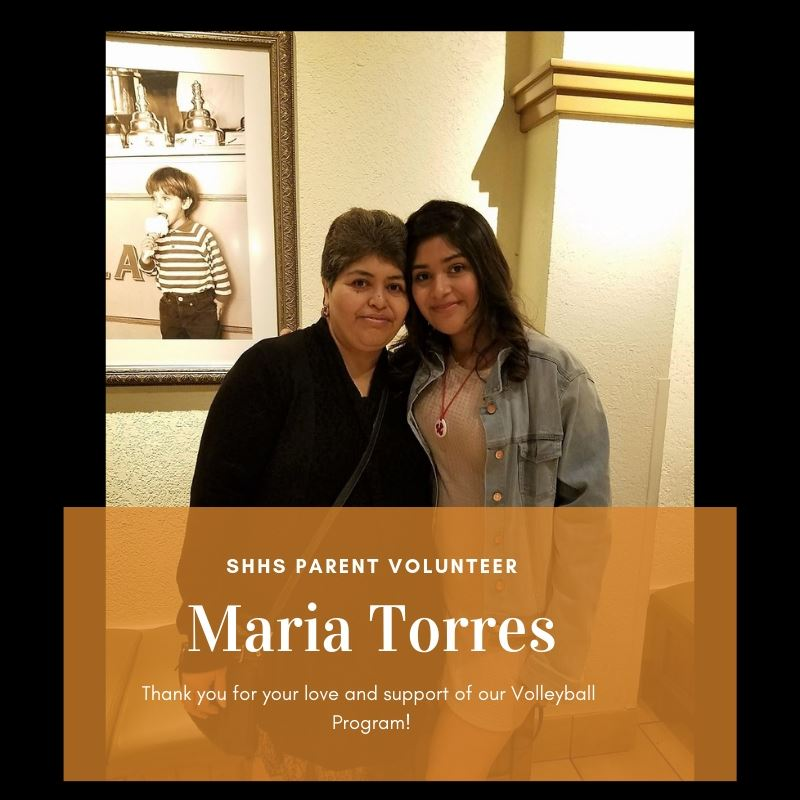 Maria Torres - Volleyball Parent Volunteer