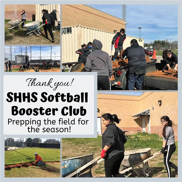 Thank you, SHHS Softball Booster Club!