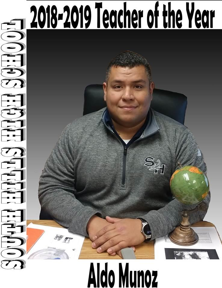 Aldo Munoz Named SHHS Teacher of the Year