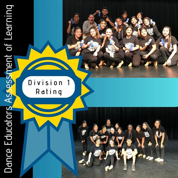 Dance 1 Students Earn Top DEAL Rating