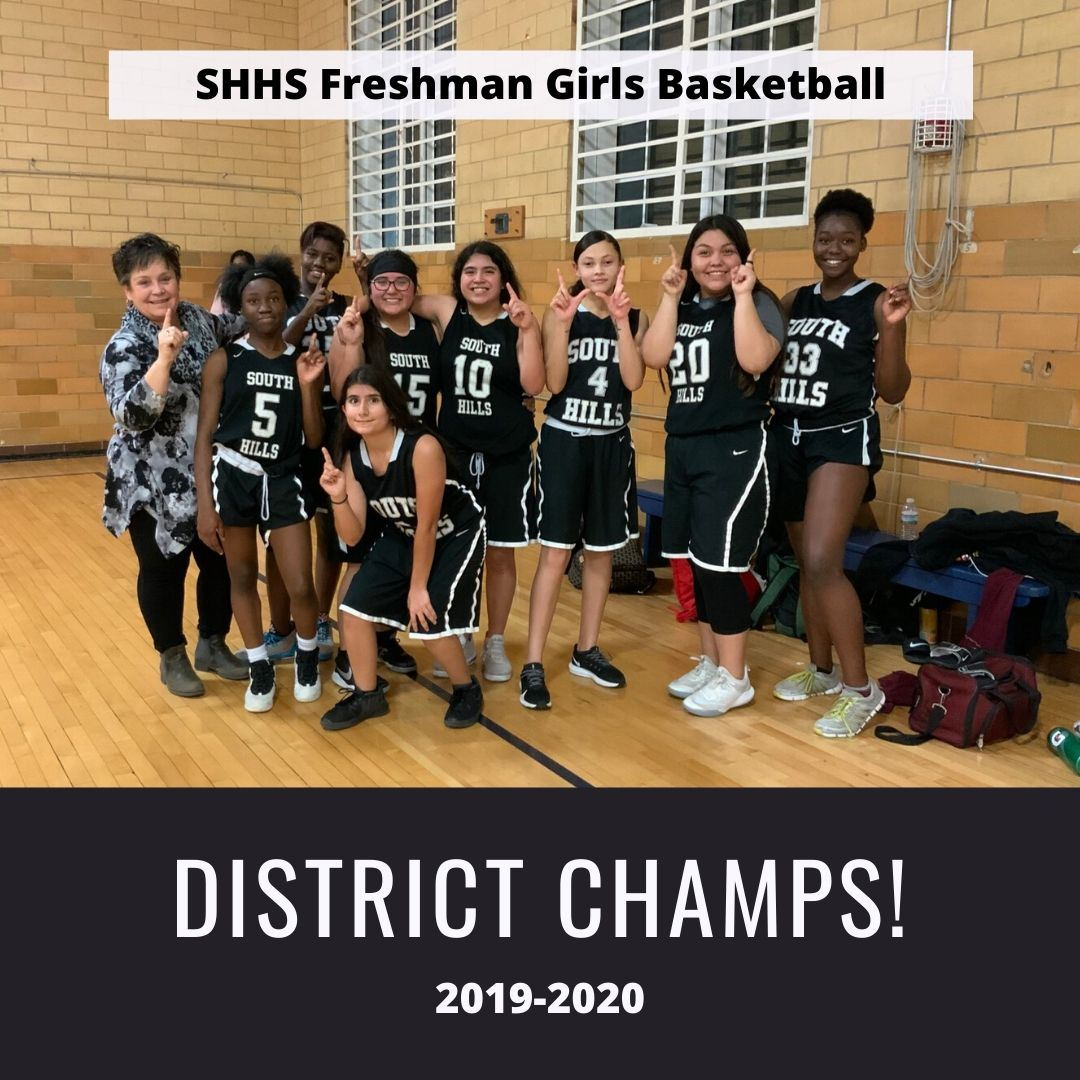 Girls Freshman Basketball Team Crowned District Champs