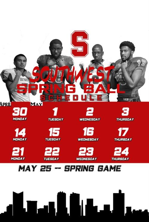 Spring Football Schedule