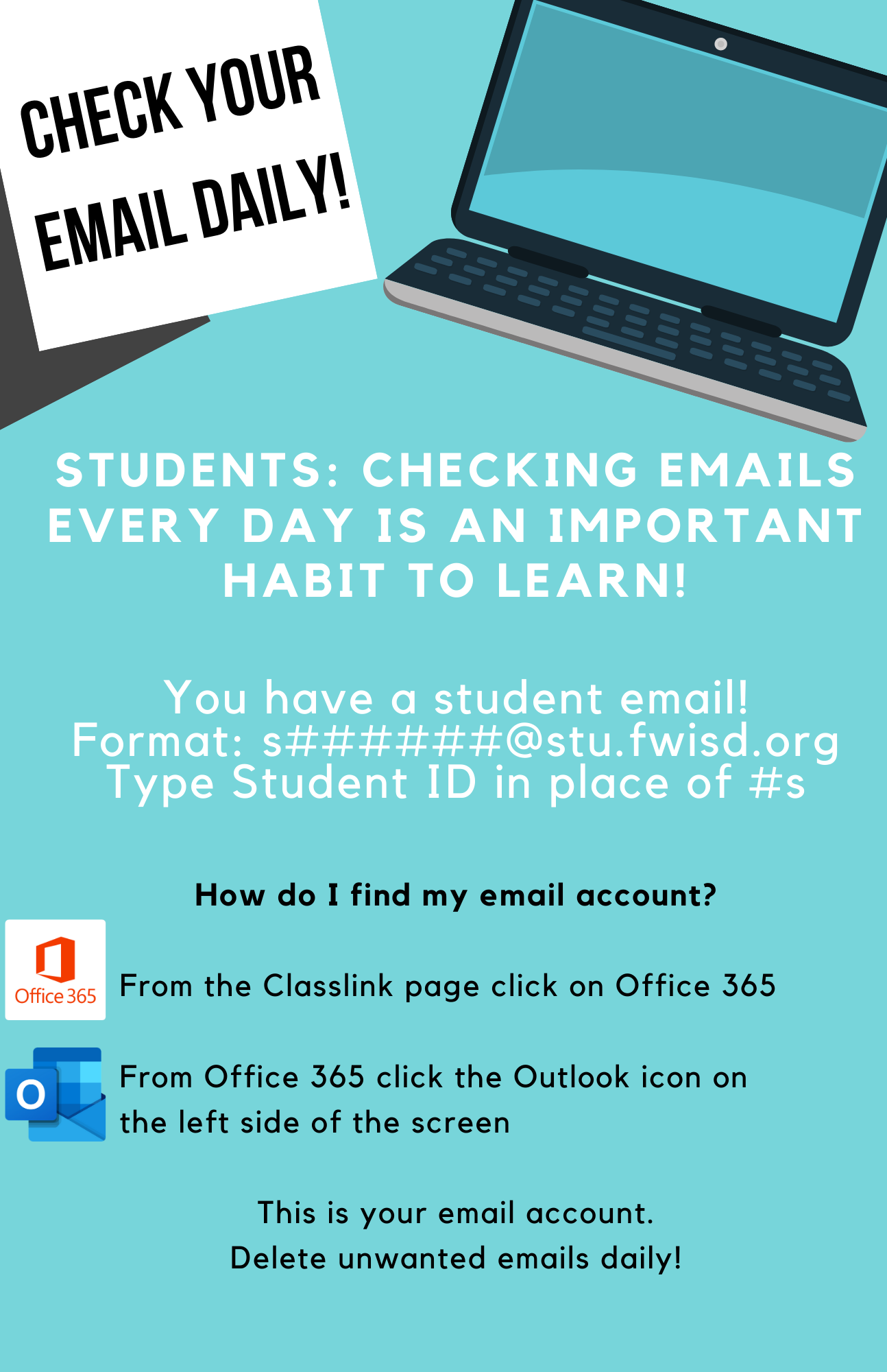 Students: Check Email Daily!