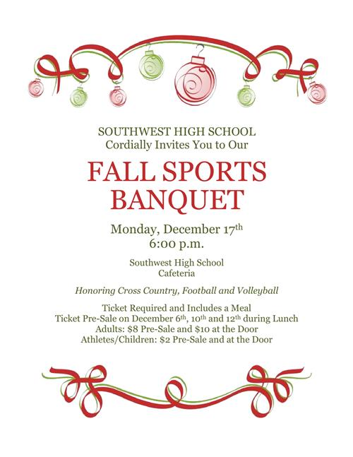 Southwest Fall Sports Banquet