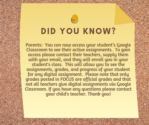 Google Classroom Access for Parents