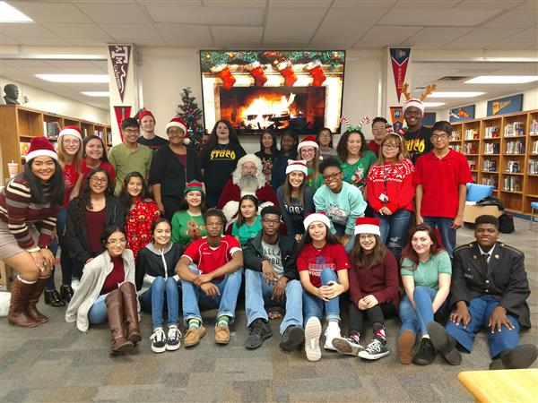 Southwest Students Bring Holiday Cheer to Elementary Feeder Schools