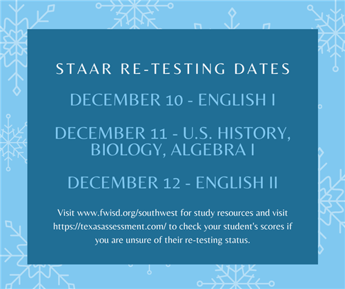 STAAR EOC Re-Testing Dates and Resources