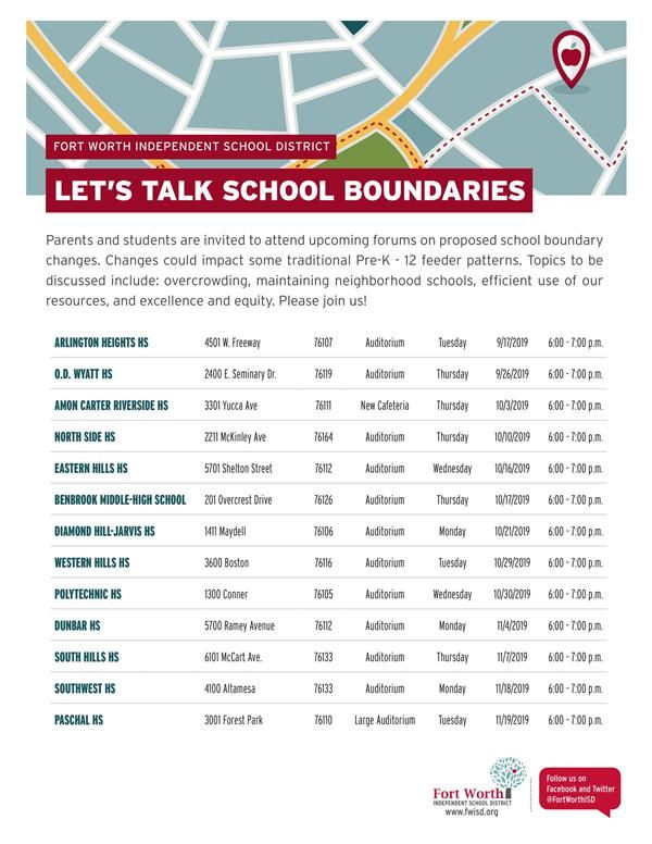 School Boundaries Meeting - Southwest will host 11/18 at 6pm