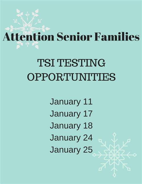 Senior TSI Testing Dates