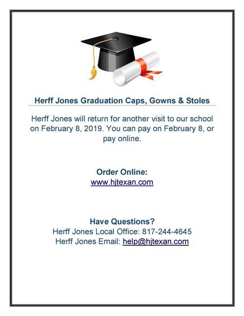 Herff Jones Cap Gown And Stole Information