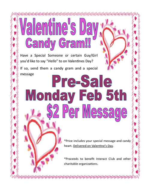 valentine's day candy grams, Ideas