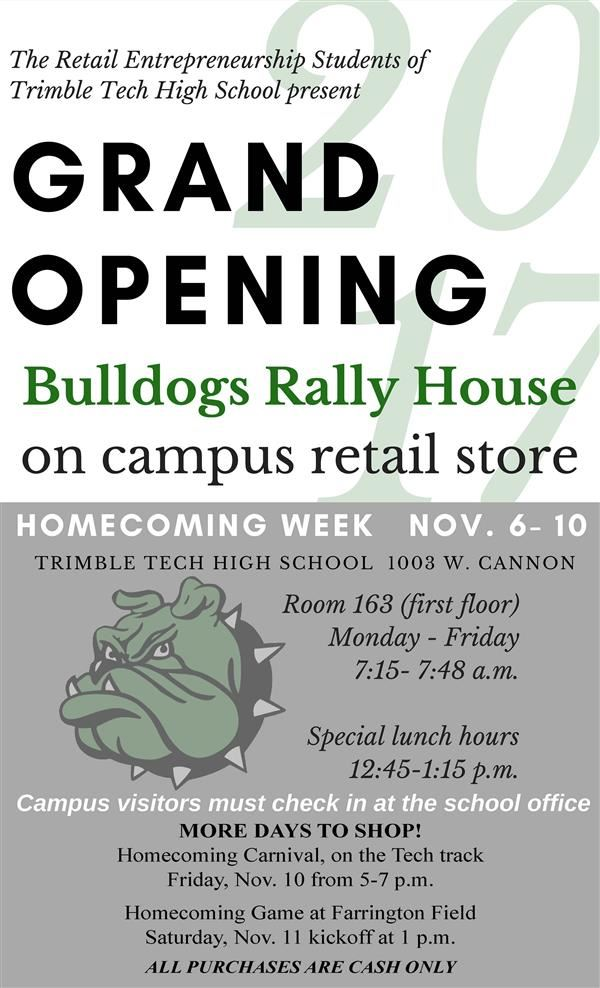 Bulldogs Rally House--Press Release