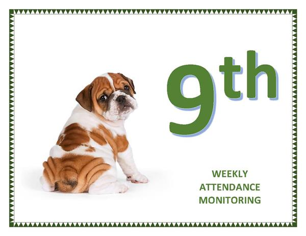 9th Grade Gets Highest Attendance Rate for 3rd Time!!
