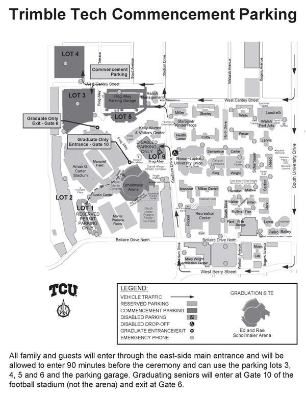 Parking at TCU for Graduation 2018