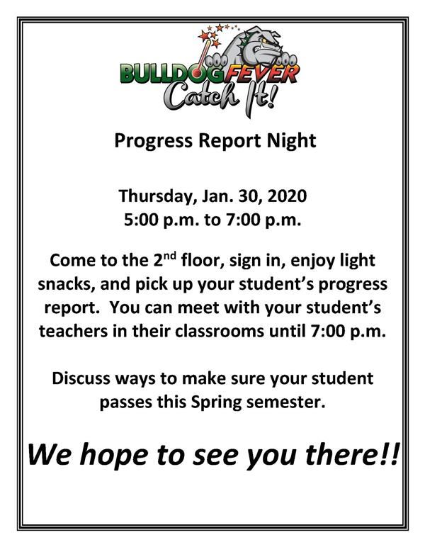 Progress report flyer