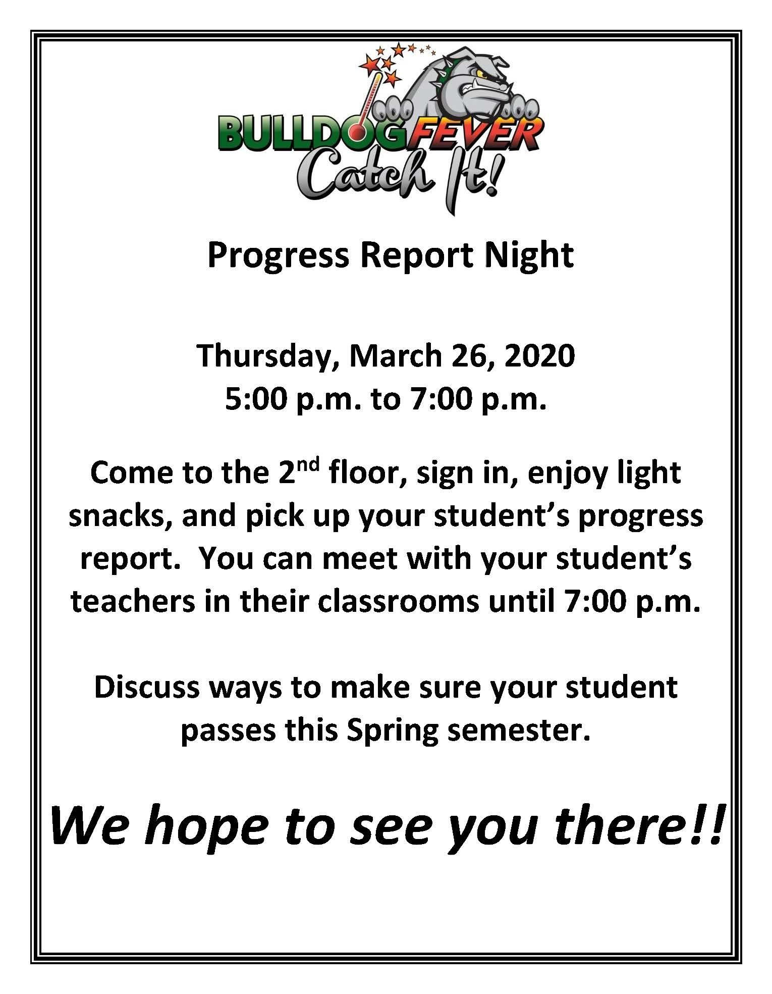Progress Report Night