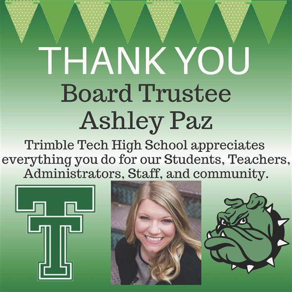 Thank you, Board Trustee Ashley Paz!