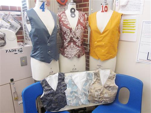 Fashion Design Students Create Vests from Curtains