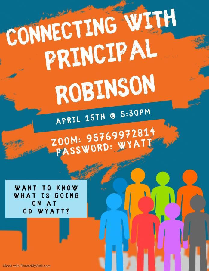 Connecting with Principal Robinson