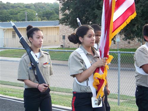 Joint Color Guard with Meacham MS