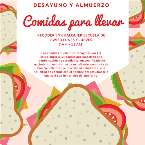 meals to go flyer spanish