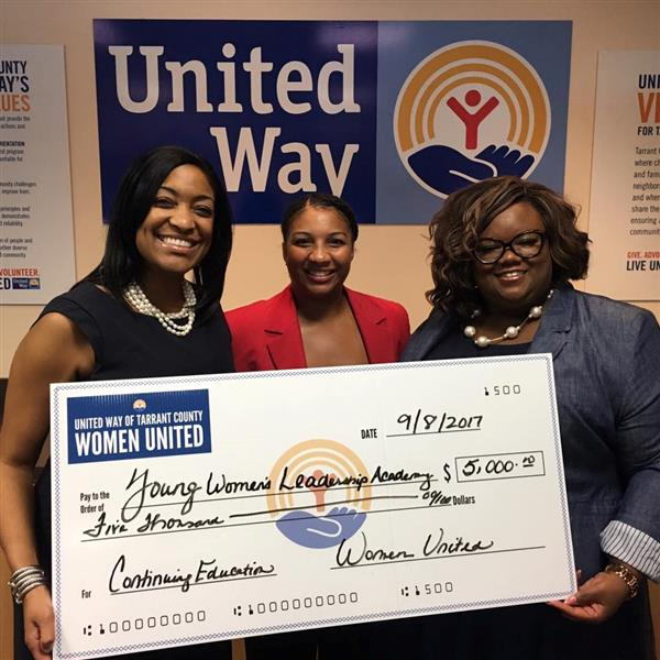 United Way of Tarrant County Women's Fund Gifts $5,000 to YWLA