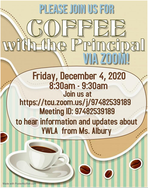 Coffee With The Principal Dec 3 2020