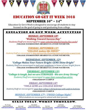 Education Go Get It Week!