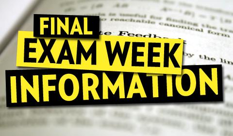 Spring Finals Exam Schedule