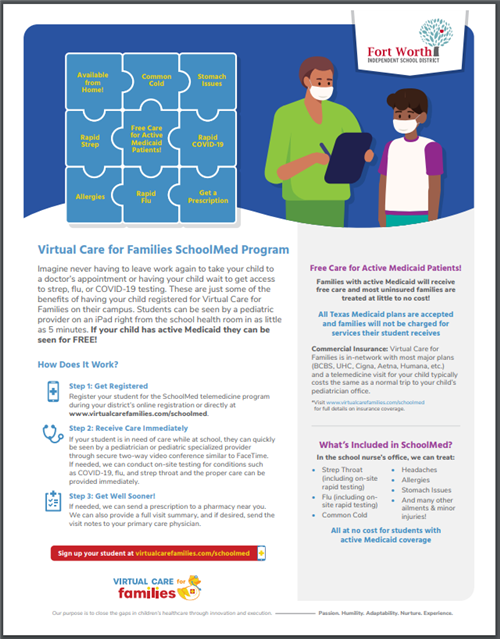 Virtual Care For Families SchoolMed Program 2020