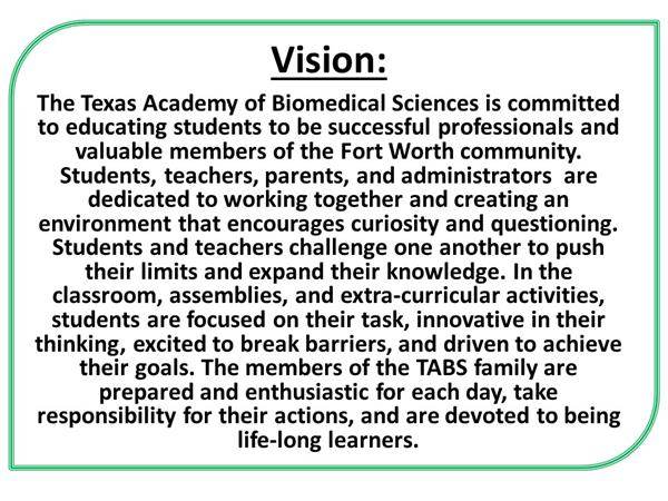 TABS Vision Statement