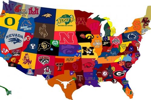 College Colors Map