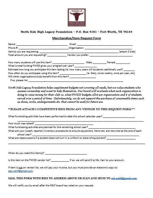 Teacher Request Form