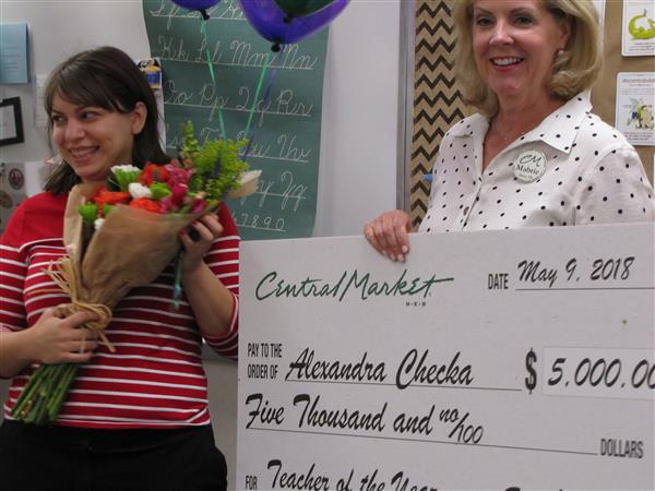Ms. Checka Wins District Secondary Teacher of the Year