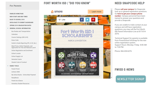 FORT WORTH ISD FAMILIES