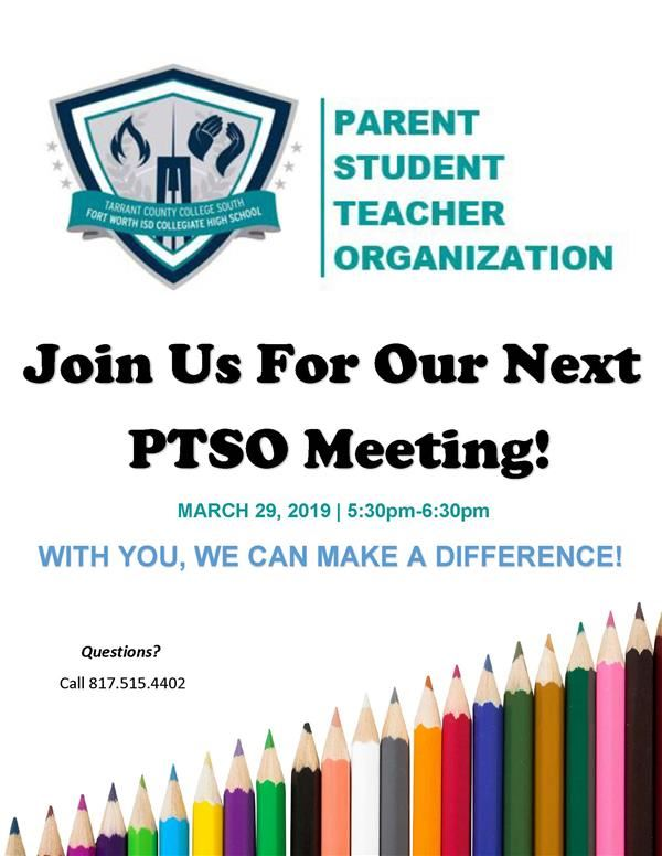 March 29 PTSO Flyer