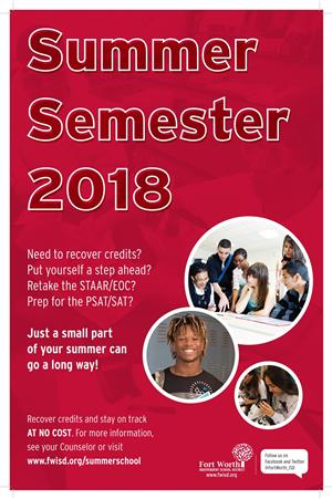 REGISTER FOR SUMMER SEMESTER 2018