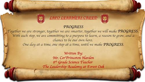 LAFO Learner's Creed