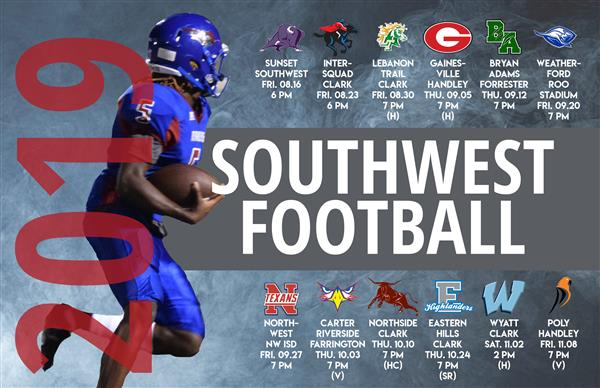 Southwest Football Schedule 2019-20