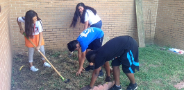 Students in Jacquet Middle School After School Garden Club Get a Taste of Their Locally Grown Crops