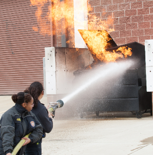 Eastern Hills HS Fire Science Training