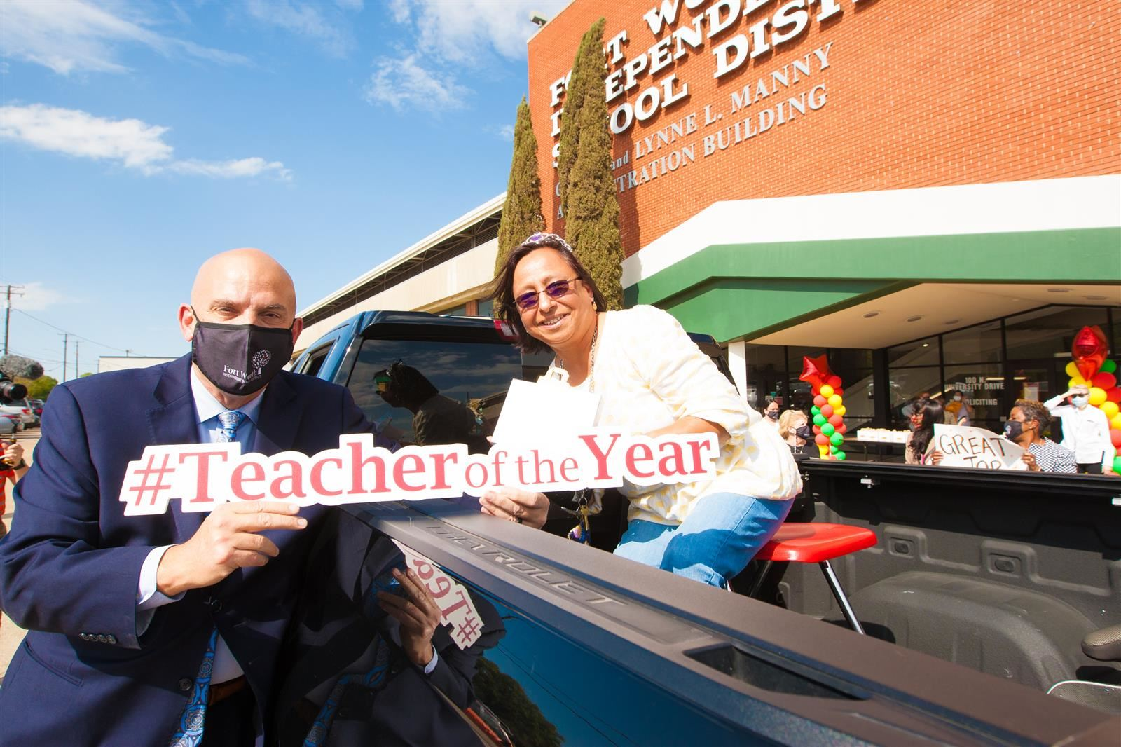 Campus Teacher of the Year Drive-Through Celebration, April 8, 2021